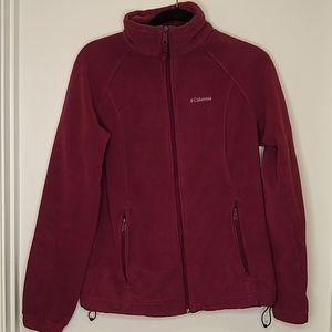 Columbia dark pink zip up jacket